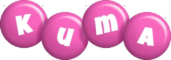 Kuma candy-pink logo