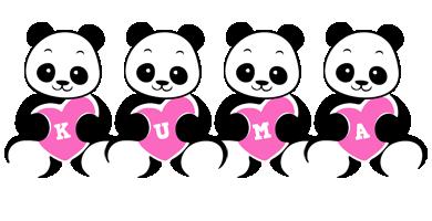 Kuma love-panda logo