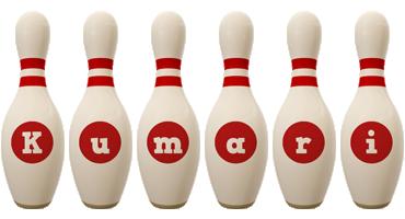 Kumari bowling-pin logo