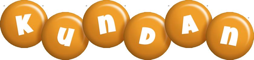 Kundan candy-orange logo