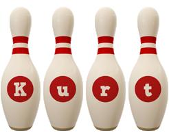 Kurt bowling-pin logo