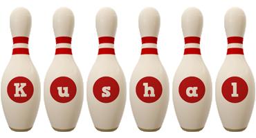Kushal bowling-pin logo