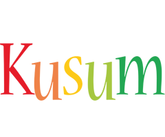 Kusum birthday logo