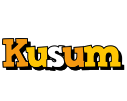 Kusum cartoon logo