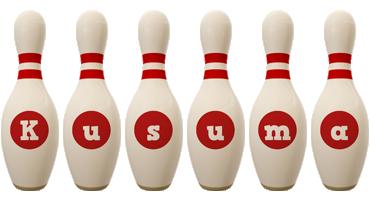 Kusuma bowling-pin logo