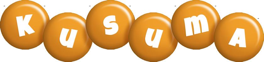 Kusuma candy-orange logo