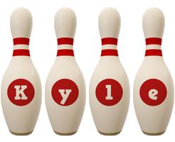 Kyle bowling-pin logo