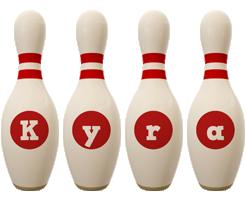Kyra bowling-pin logo