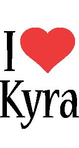 Kyra i-love logo