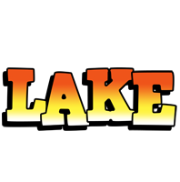 Lake sunset logo