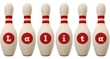 Lalita bowling-pin logo