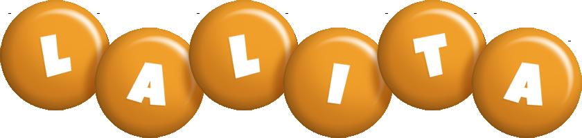 Lalita candy-orange logo
