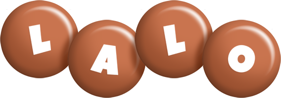 Lalo candy-brown logo