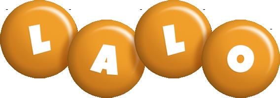 Lalo candy-orange logo