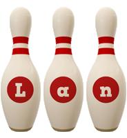 Lan bowling-pin logo