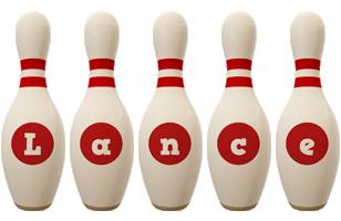 Lance bowling-pin logo
