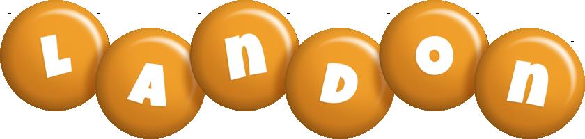 Landon candy-orange logo