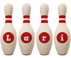Lari bowling-pin logo