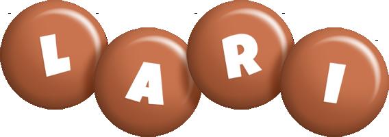 Lari candy-brown logo