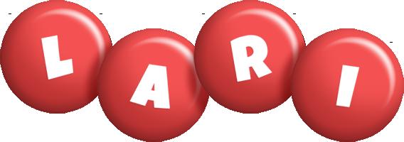 Lari candy-red logo