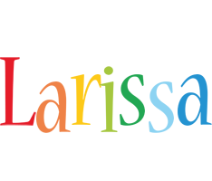 Larissa birthday logo