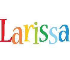Larissa birthday logo