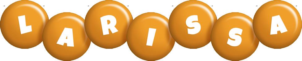 Larissa candy-orange logo