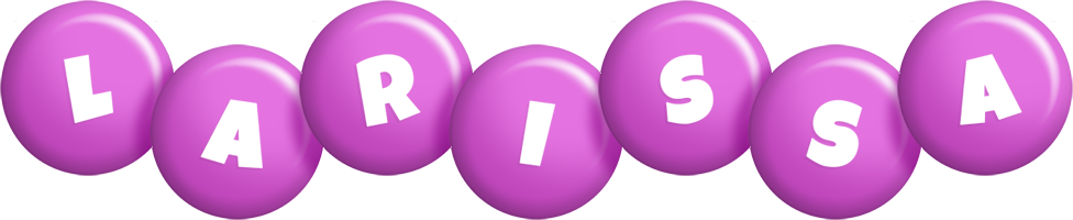 Larissa candy-purple logo