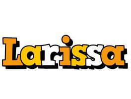 Larissa cartoon logo