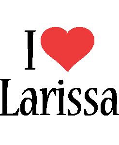 Larissa i-love logo