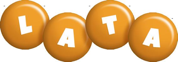 Lata candy-orange logo