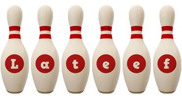 Lateef bowling-pin logo
