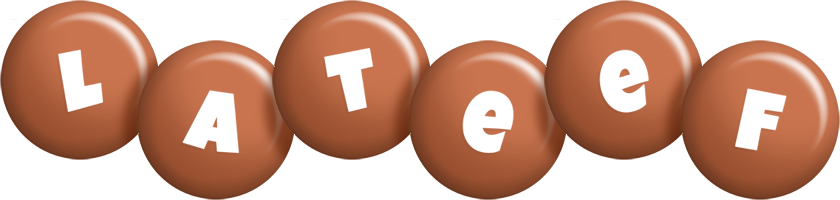 Lateef candy-brown logo