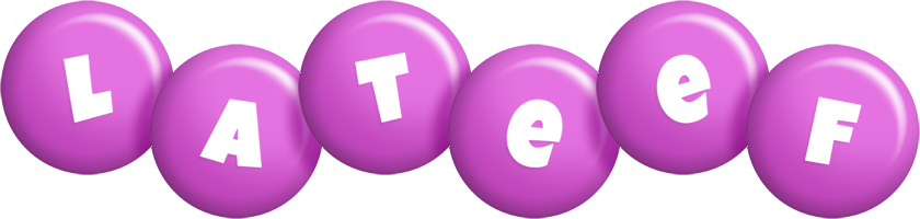 Lateef candy-purple logo