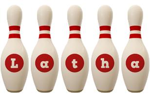 Latha bowling-pin logo
