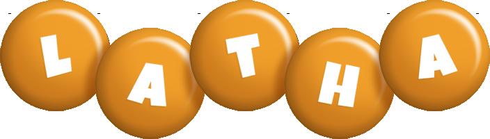 Latha candy-orange logo