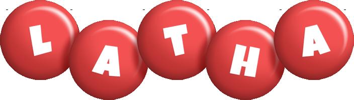 Latha candy-red logo