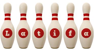 Latifa bowling-pin logo