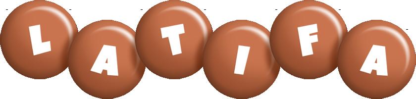 Latifa candy-brown logo