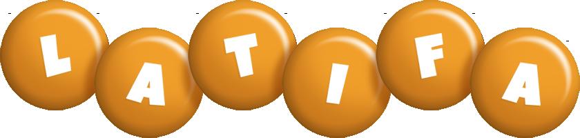 Latifa candy-orange logo