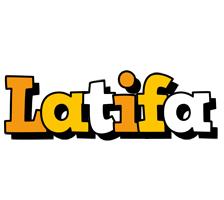 Latifa cartoon logo