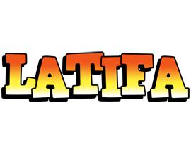 Latifa sunset logo