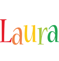 Laura birthday logo