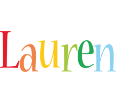 Lauren birthday logo
