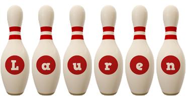 Lauren bowling-pin logo