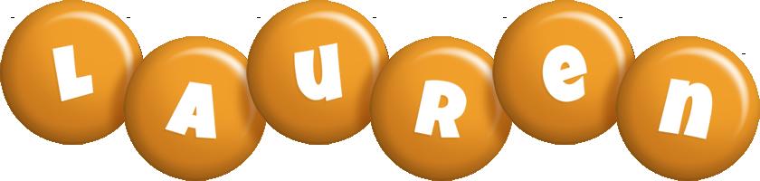 Lauren candy-orange logo