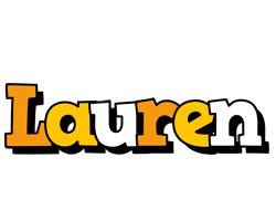 Lauren cartoon logo