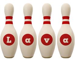Lava bowling-pin logo