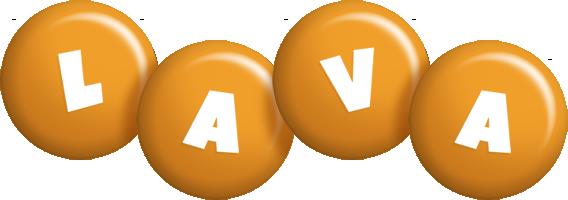Lava candy-orange logo