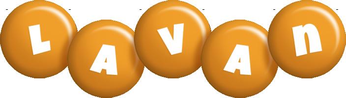 Lavan candy-orange logo